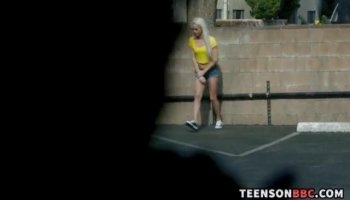 Incredible teens group lesbian fun