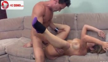Kinky bitches get screwed by nasty dudes on the couch